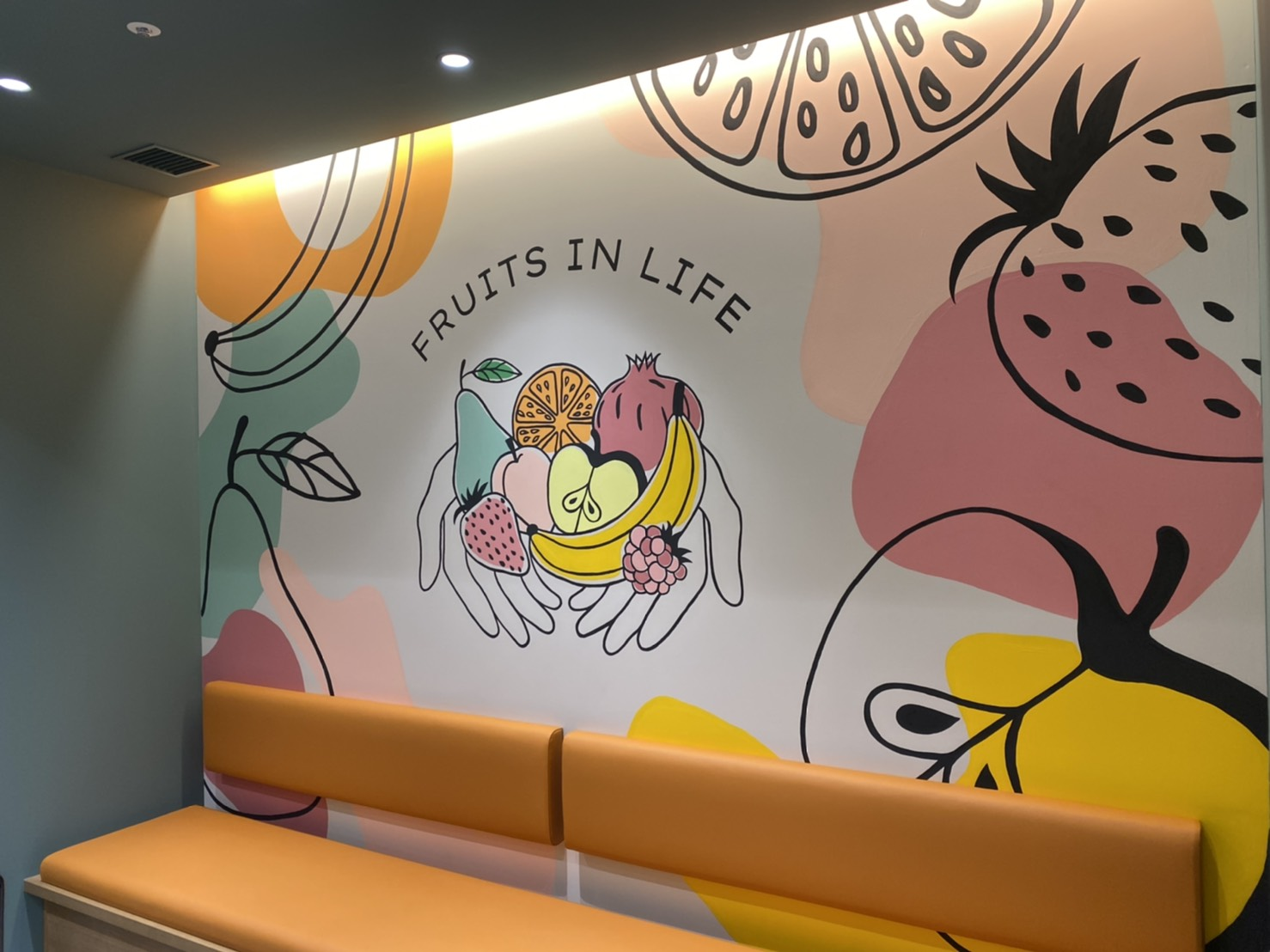 FRUITS IN LIFE  Tokyo Midtown Store   Mural・illustration